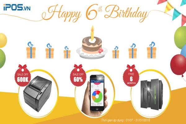 Khuyến mại cực lớn - Chào mừng sinh nhật 6 tuổi iPOS.vn 1