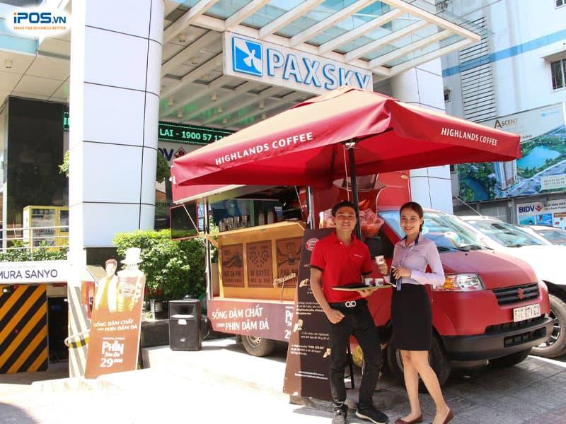 Mô hình cafe take away trên xe ô tô tải