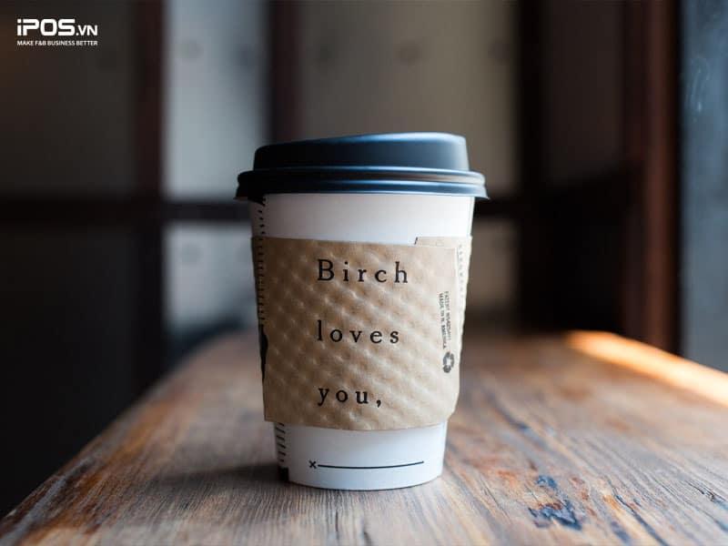 Truyền thông quán trực tiếp lên cốc cafe