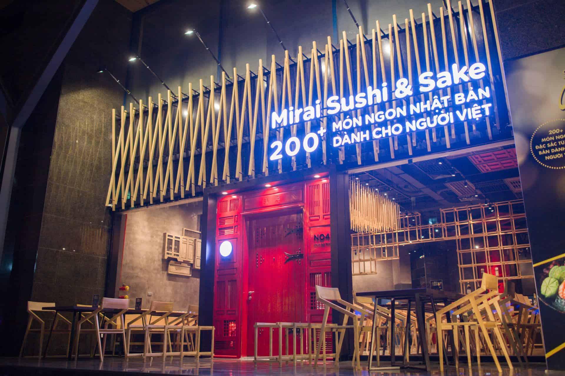 nhà hàng Mirai - Sushi & Sake