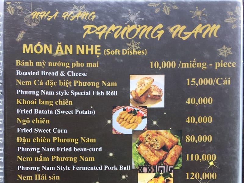 Định giá thực đơn nhà hàng