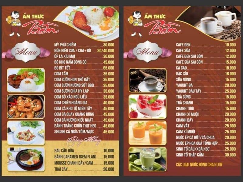 6 quy tắc thiết kế menu quán ăn lôi cuốn thực khách
