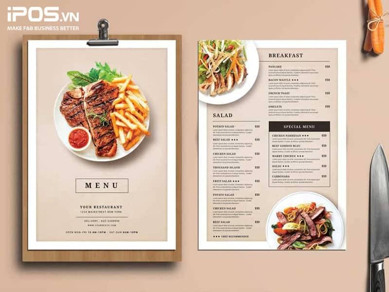 Những menu catalogue đang được sử dụng phổ biến ở các nhà hàng