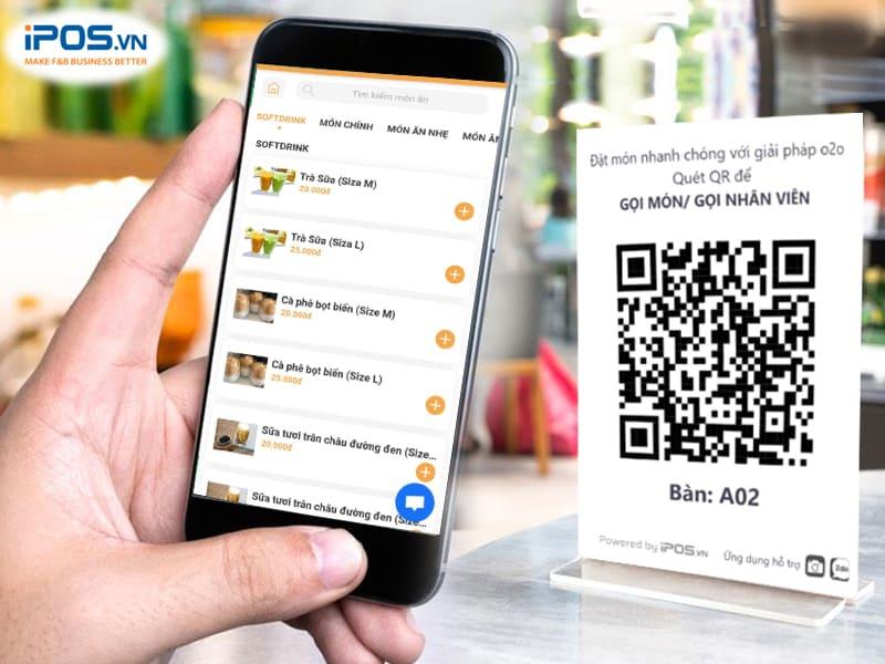 sử dụng menu điện tử để tối ưu công suất nhà hàng