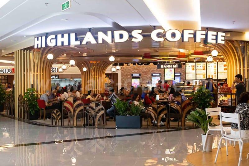 mô hình chuỗi quán cafe