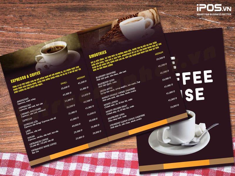 Thu hút khách hàng bằng một menu hấp dẫn