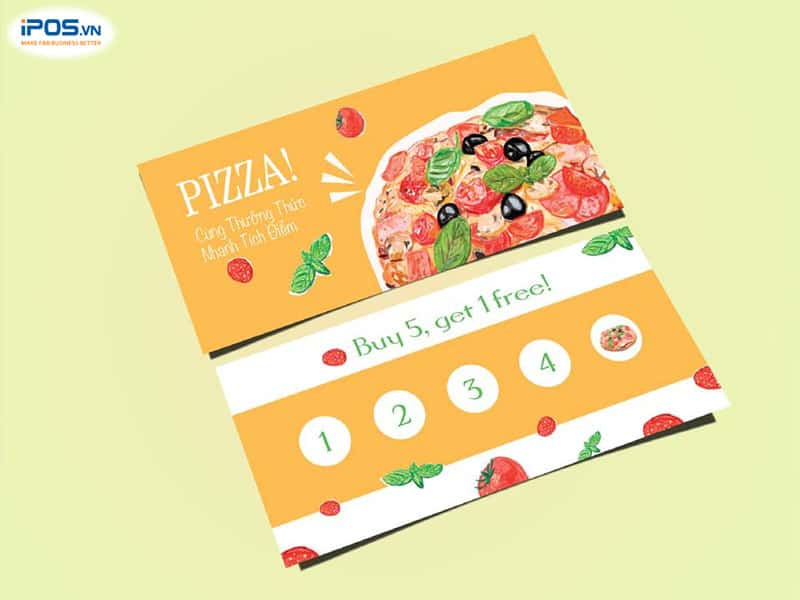 Thẻ tích điểm kích thích khách hàng muốn đến ăn lần sau