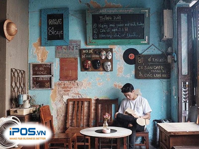 mở quán cà phê vintage