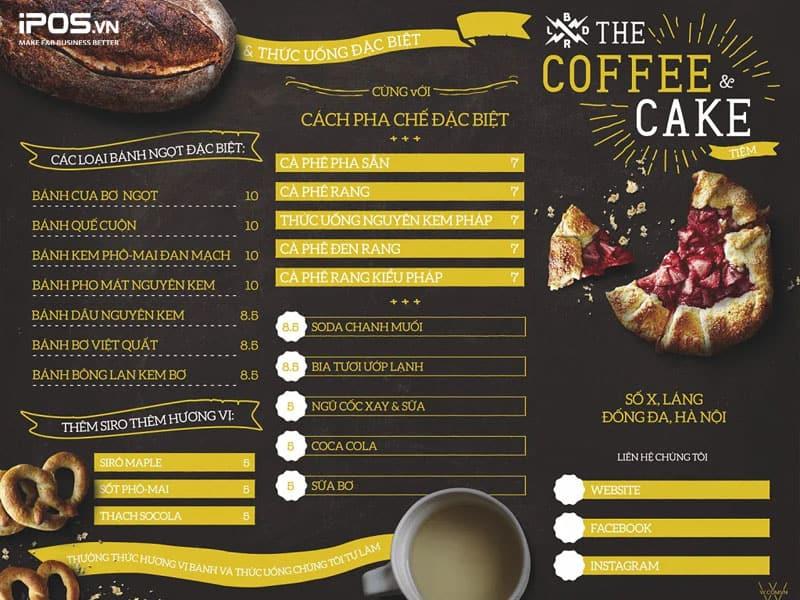 Xác định giá các món trong menu