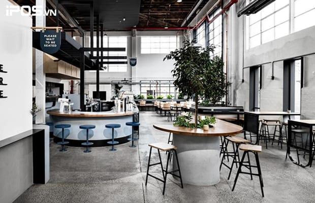 Thiết kế không gian quán trà sữa