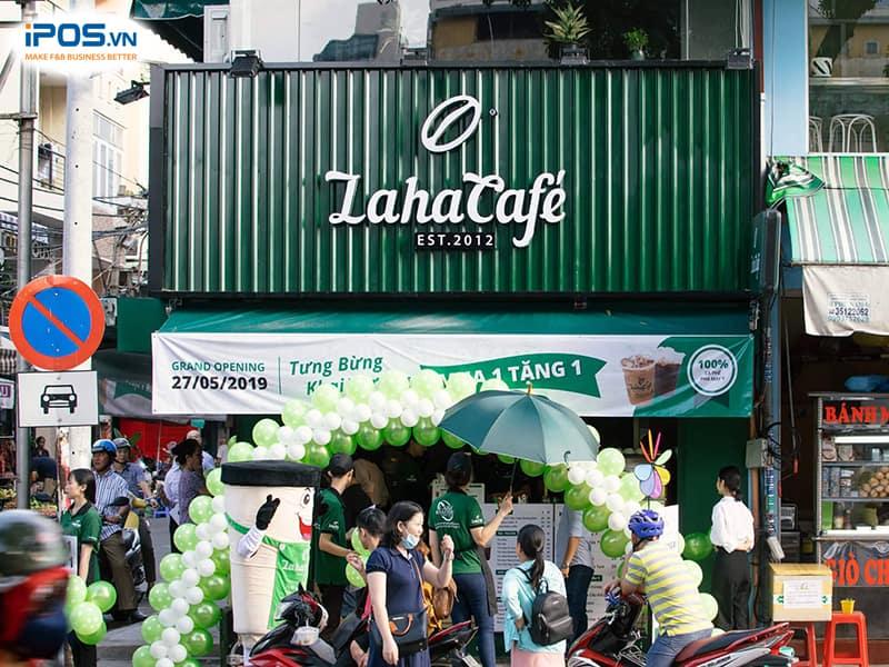chi phí nhượng quyền laha cafe