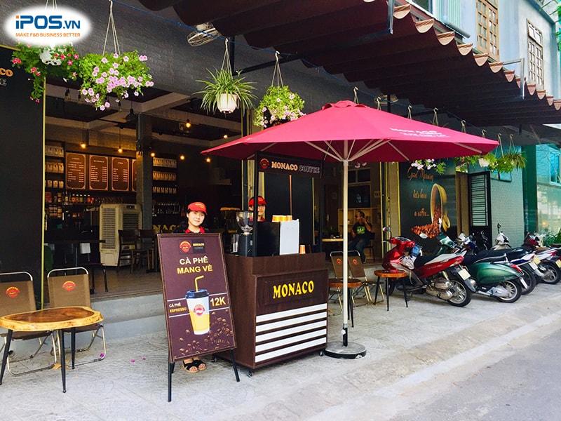 chi phí nhượng quyền monaco coffee