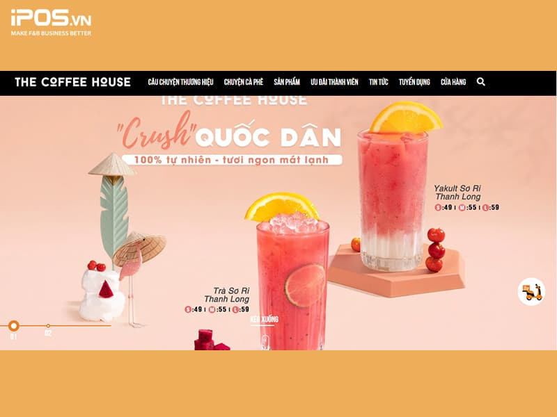 xây dựng website để bắt đầu marketing quán cafe