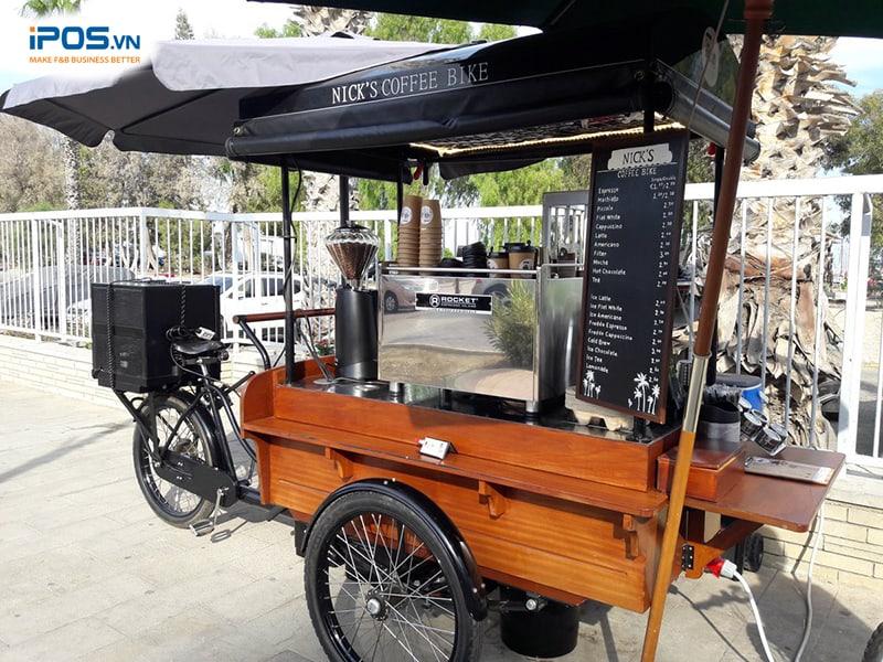 mô hình xe cafe take away đường phố