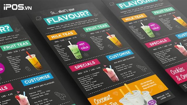 7 mẫu thiết kế menu quán trà sữa độc đáo 2