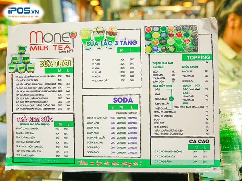Việc lựa chọn kiểu dáng menu cũng rất quan trọng
