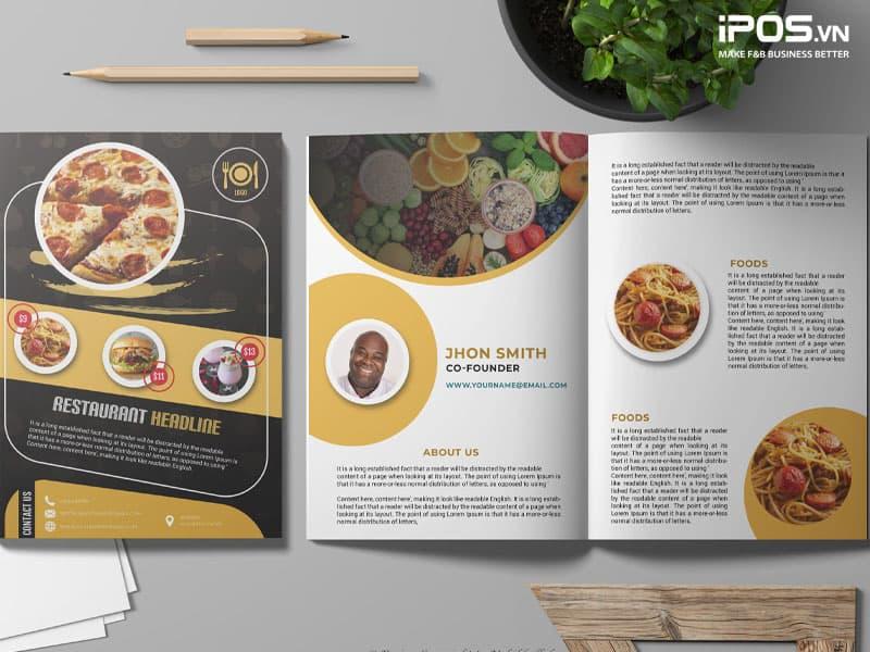 Menu quyển catalogue là menu phổ biến nhất