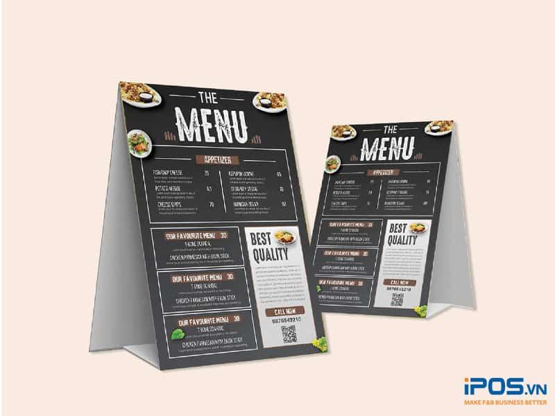 Menu để bàn là dạng thu nhỏ của menu chính
