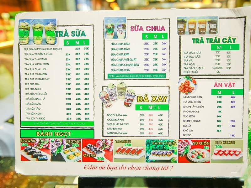 Các loại menu
