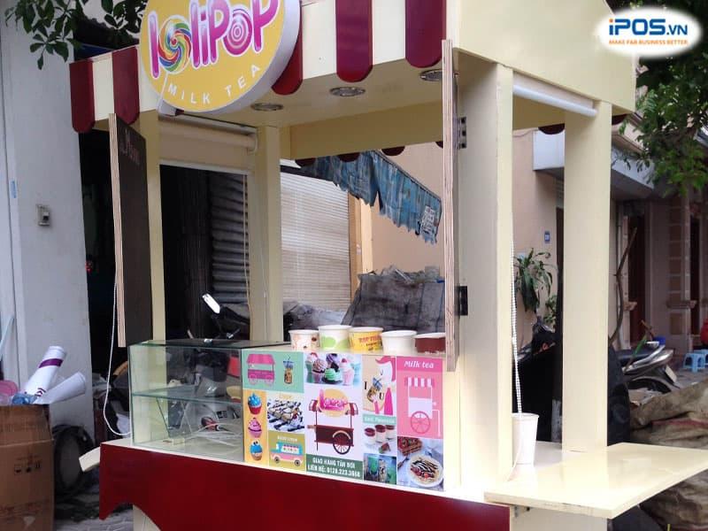 Không khó để bắt gặp những xe bán trà sữa ở thị trường Sài Gòn