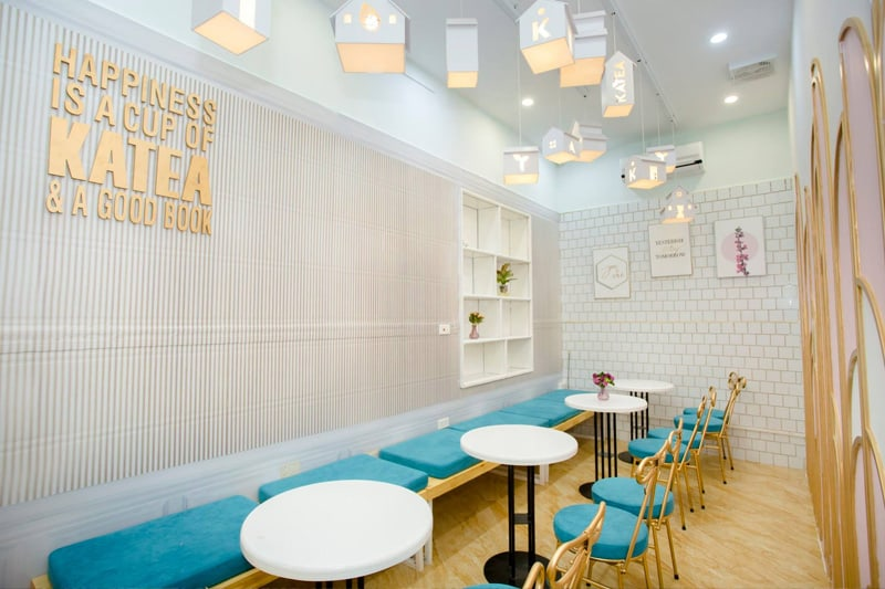 Thiết kế quán trà sữa theo phong cách hiện đại