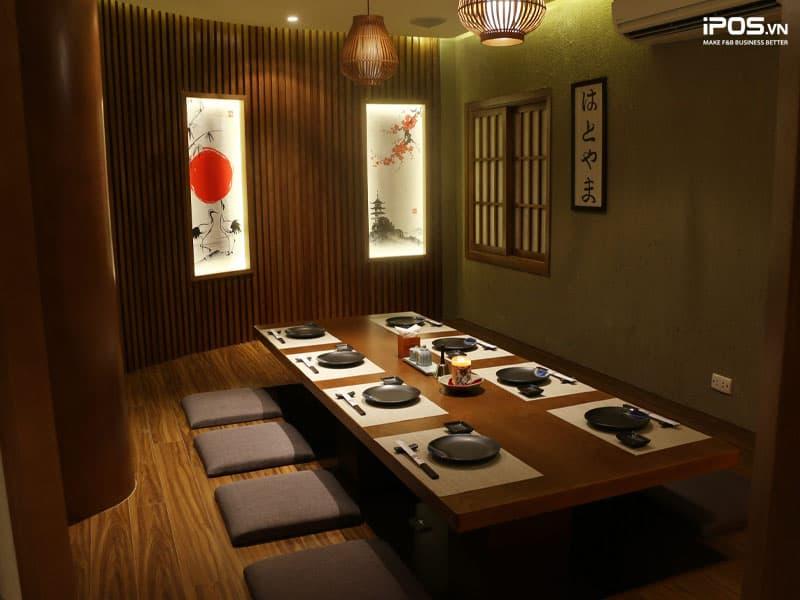 Thiết kế nhà hàng theo phong cách Nhật Bản