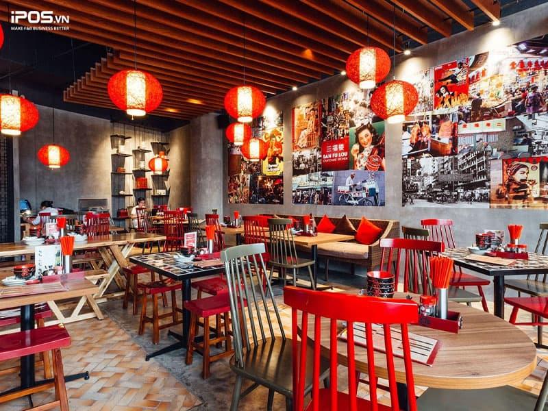 Thiết kế nhà hàng theo phong cách Hongkong - Trung Quốc