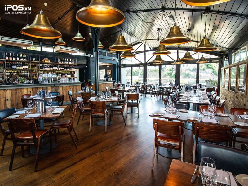 Thiết kế nhà hàng theo phong cách hiện đại