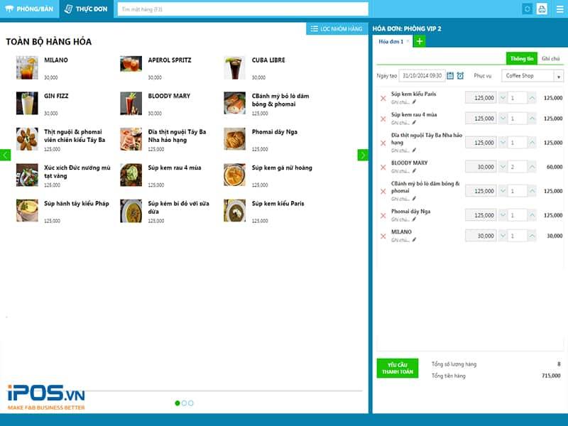 phần mềm quản lý nhà hàng kiotviet