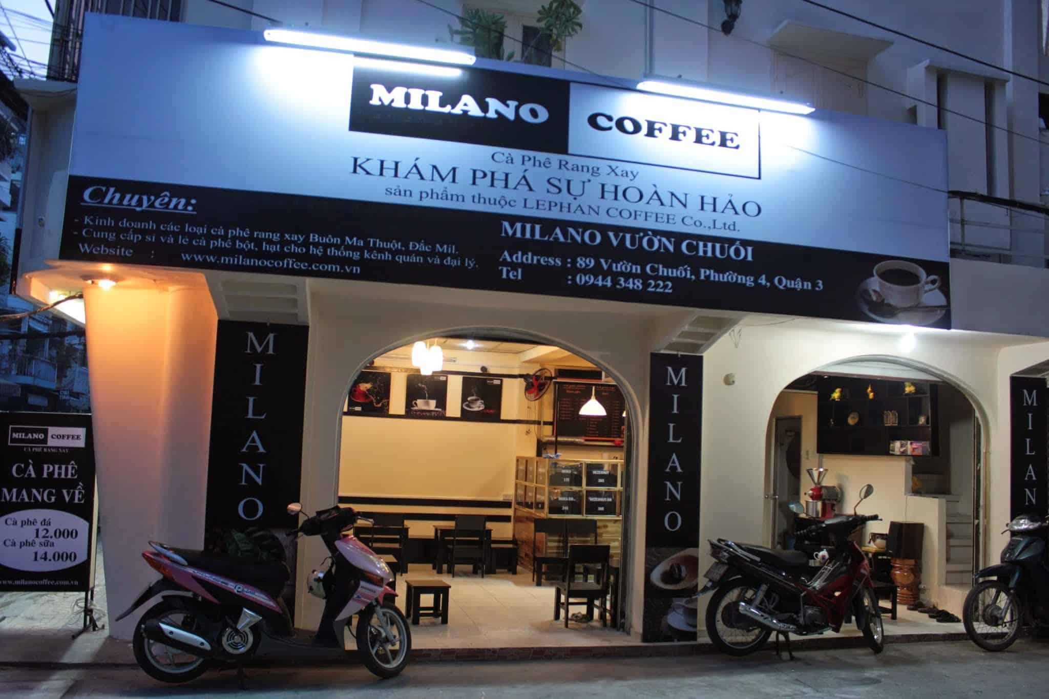 nhượng quyền cafe milano coffee
