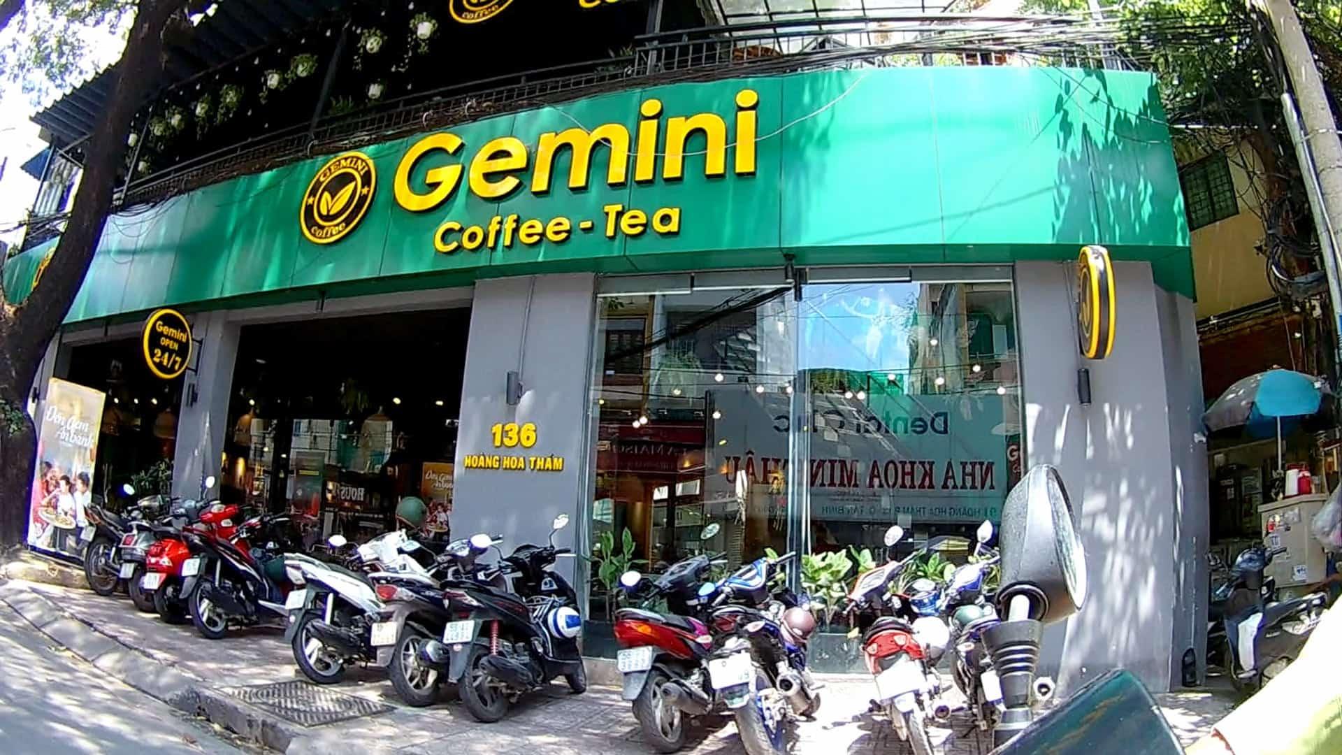 nhượng quyền cafe gemini coffee