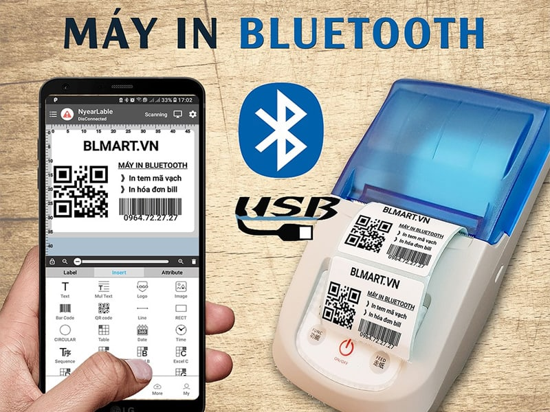 Nguyên lý hoạt động máy in hóa đơn Bluetooth