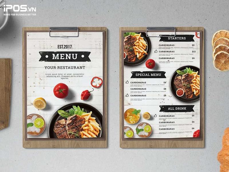 kế hoạch xây dựng menu nhà hàng