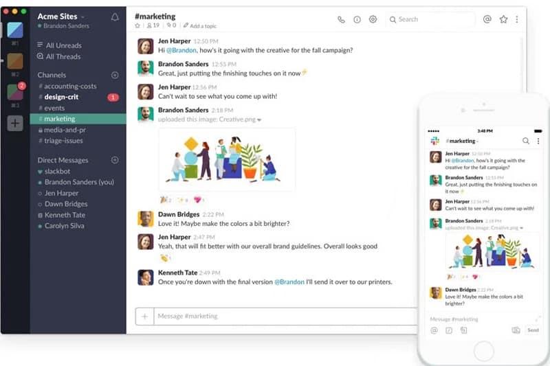 Phần mềm quản lý công việc Slack
