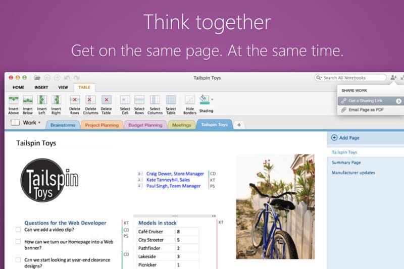 Phần mềm quản lý công việc Microsoft Onenote