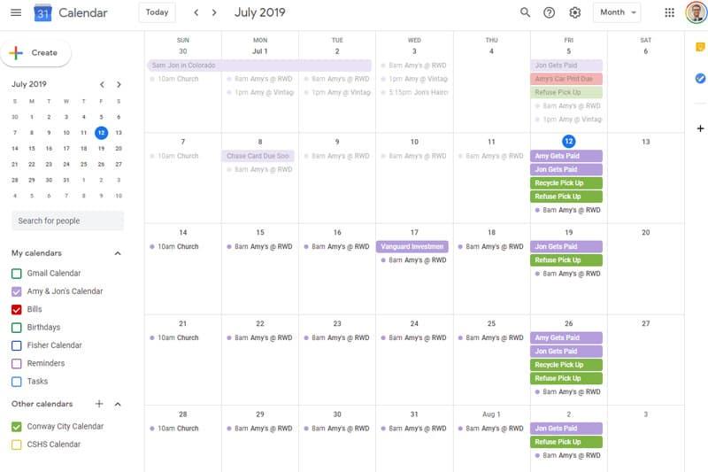 Phần mềm quản lý công việc Google Calendar