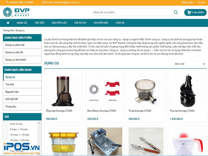 dụng cụ pha chế tại ĐVP Market