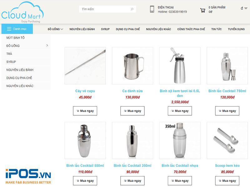 dụng cụ pha chế tại Cloudmart