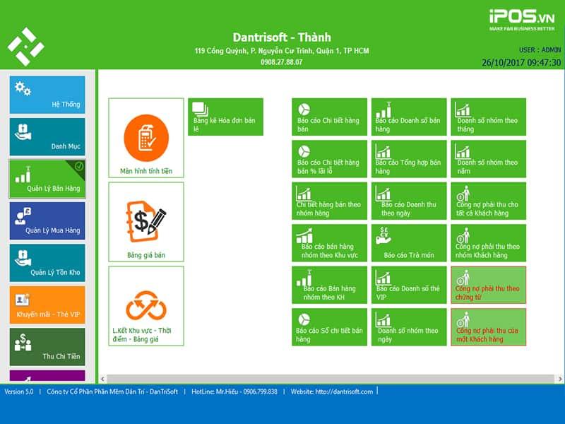 phần mềm quản lý bán hàng dantrisoft