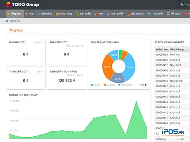 phần mềm quản lý bán hàng miễn phí toko tech