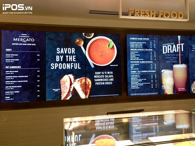 Bảng menu điện tử Digital Signage
