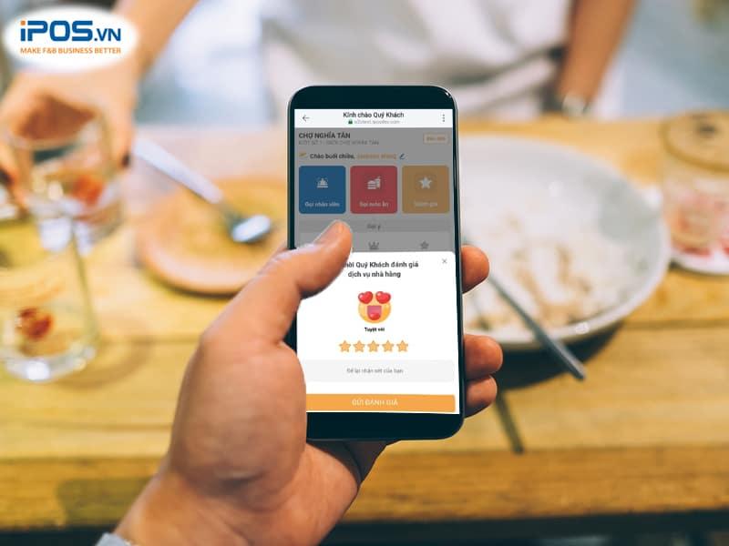 thu thập phản hồi khách hàng trên menu điện tử