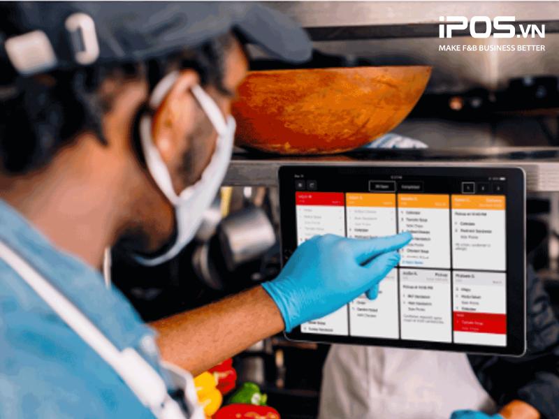 Hệ thống quản lý vận hành bếp KDS giúp bạn thu thập dữ liệu hiệu quả