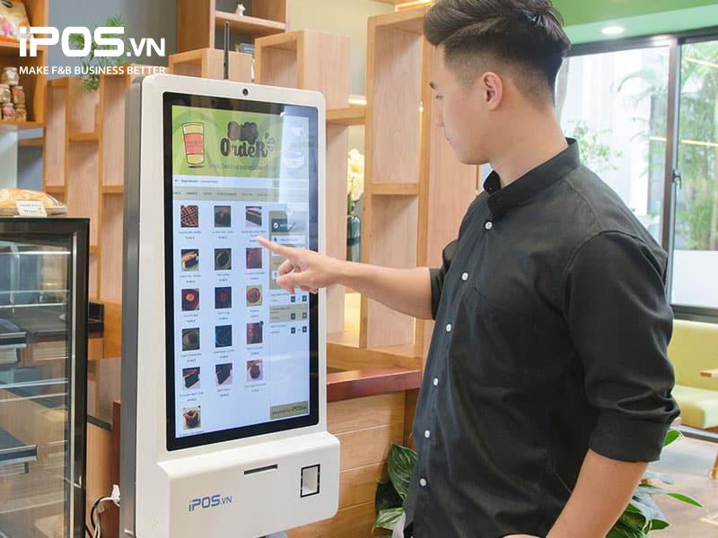 Kiosk order tự động có thể hỗ trợ tốt cho hoạt động upsell