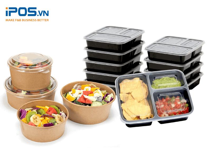 Bao bì có một lớp nắp đậy trong suốt, giúp khách hàng có thể nhìn được trực tiếp món ăn