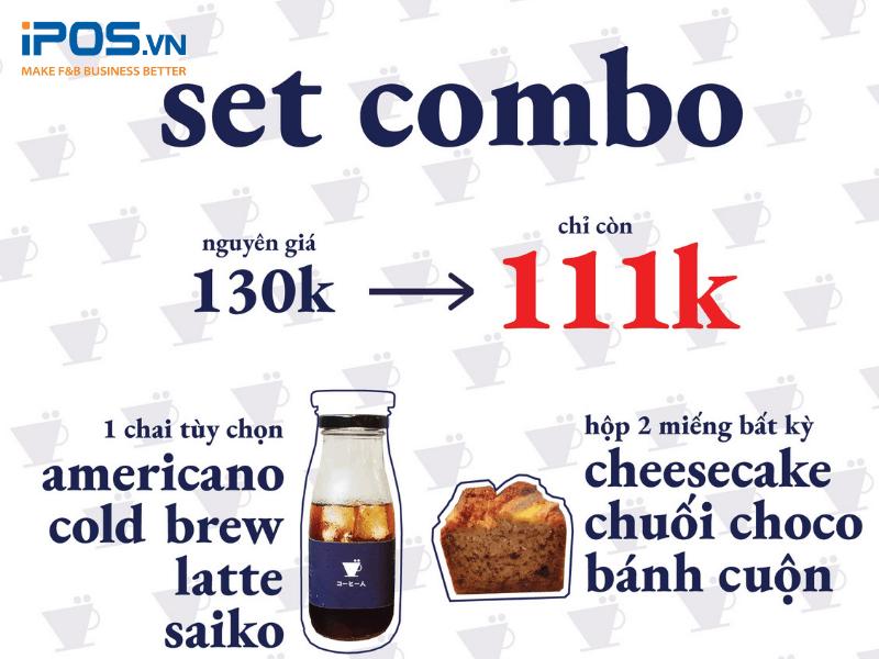 Combo cà phê và bánh ngọt được nhiều khách hàng đặt online