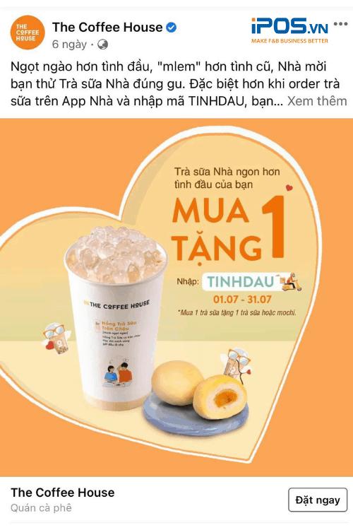 Mẫu nội dung quảng cáo Facebook cho quán cafe về chương trình khuyến mãi