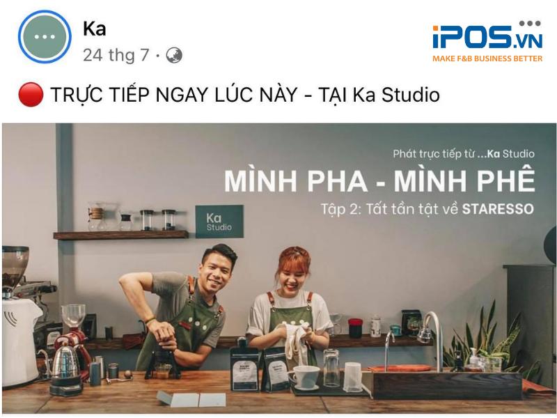 Buổi livestream giao lưu với khách hàng của thương hiệu Ka