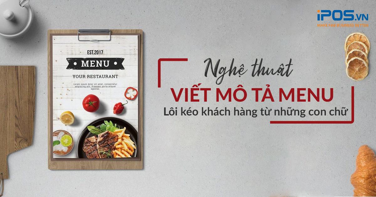 Hãy rà soát lại thật kỹ những lỗi sai trong menu trước khi lưu hành chúng trong nhà hàng