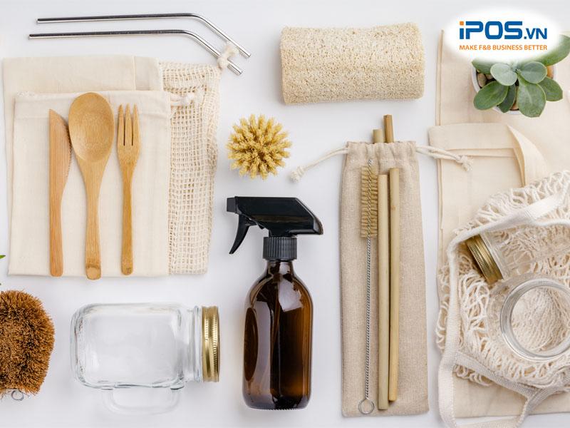 Sử dụng bao bì và dụng cụ ăn uống tự nhiên, thân thiện với môi trường